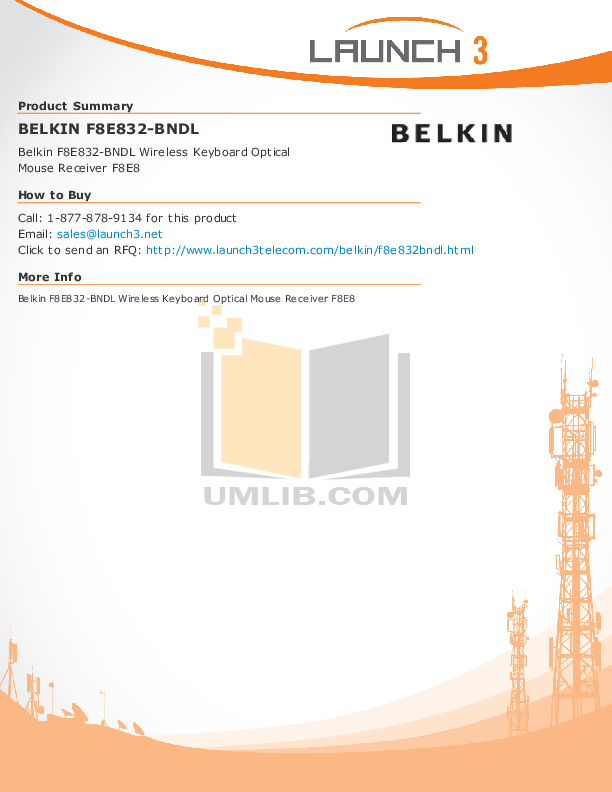 pdf for Belkin Keyboard F8E832-BNDL manual