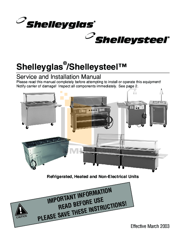 pdf for Delfield Refrigerator SCM-74 manual