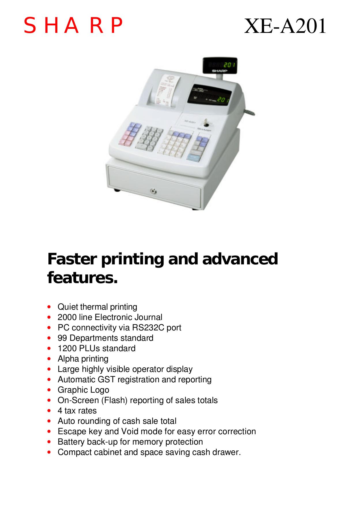 download free pdf for sharp xe a201 cash register other manual rh umlib com AIA 2010 A201 A201 2007