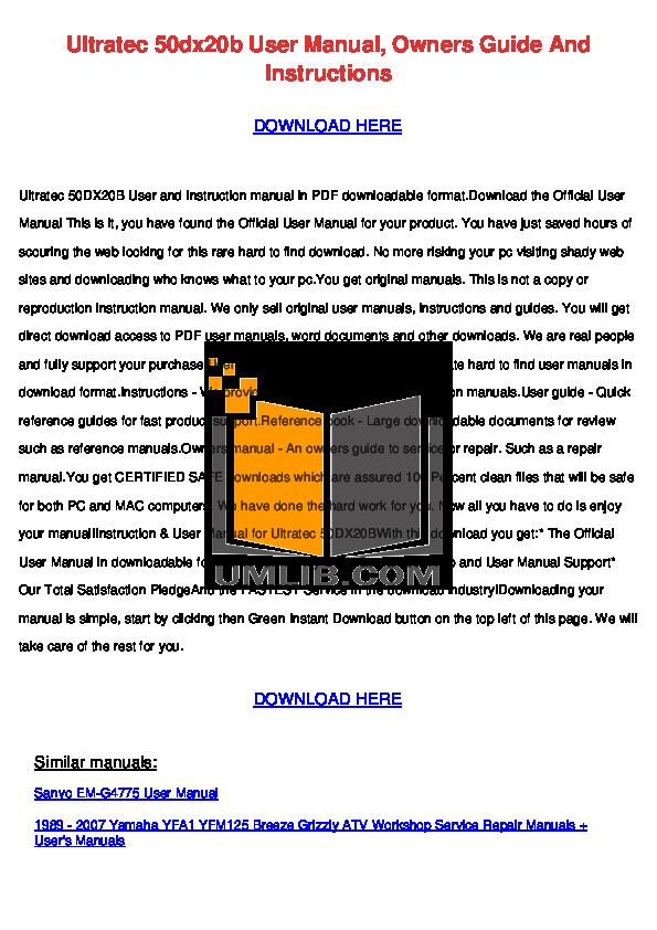 pdf for Hitachi TV 50DX20B manual
