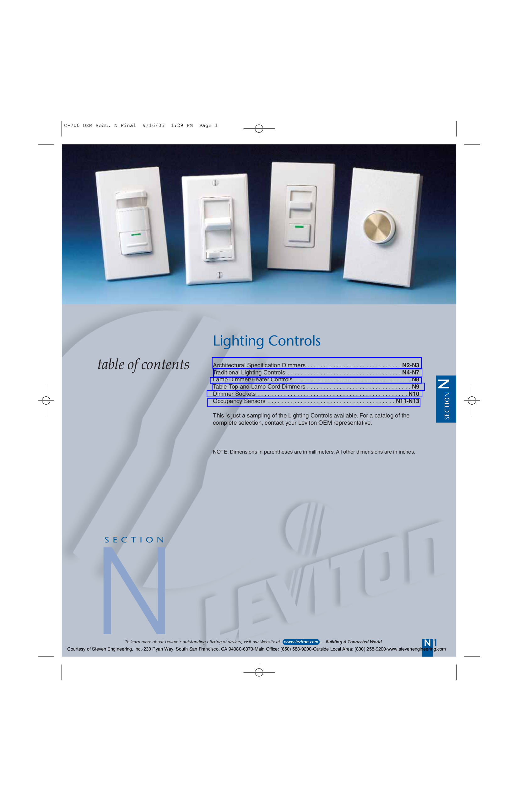 Cool Leviton Lighting Controls Manual Contemporary - Electrical ...