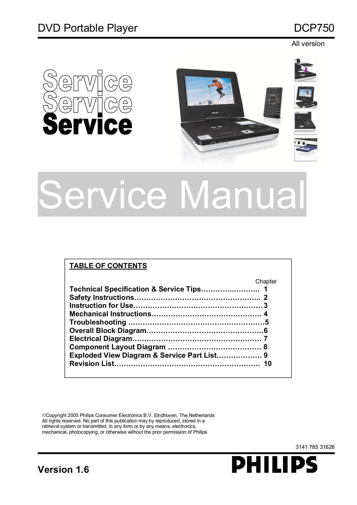 Download free pdf for philips dcp750 portable dvd player manual.