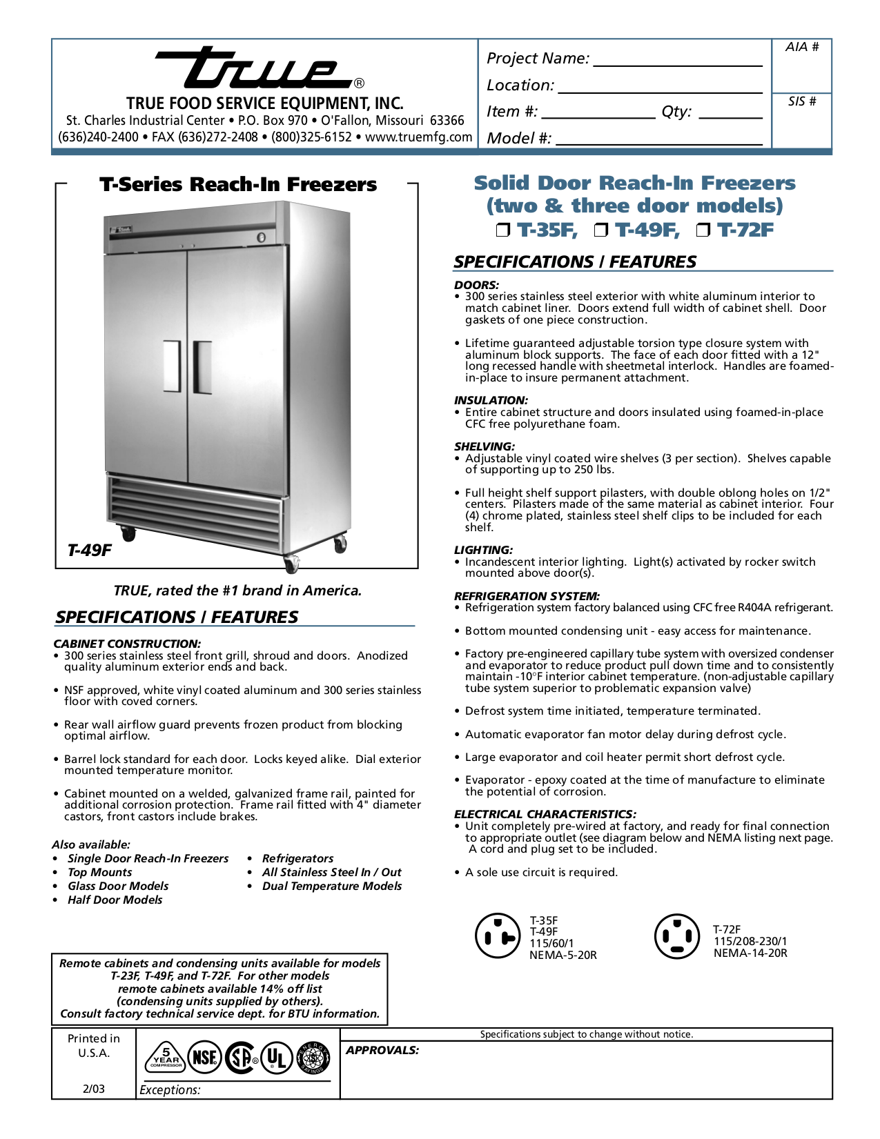 T49F.pdf 0 download free pdf for true t 72f freezer manual  at alyssarenee.co