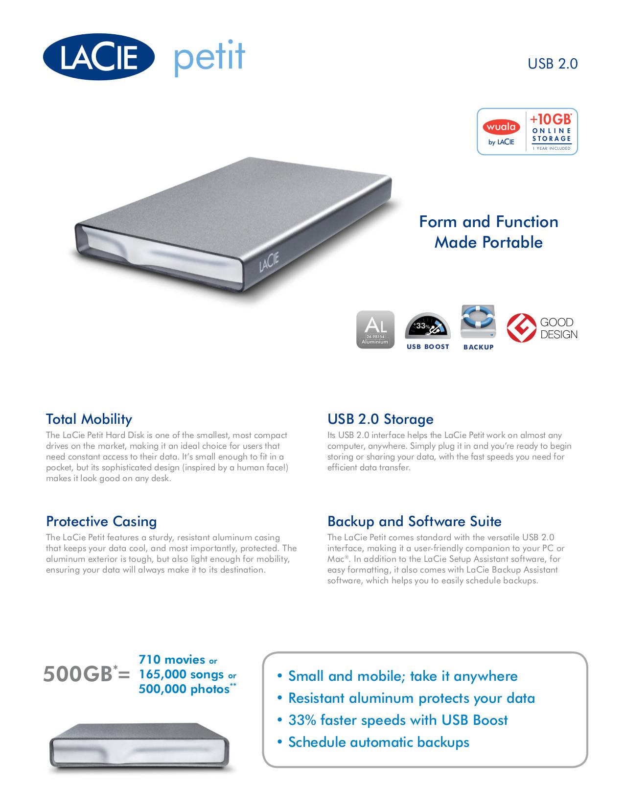 pdf for LaCie Storage 301895 manual