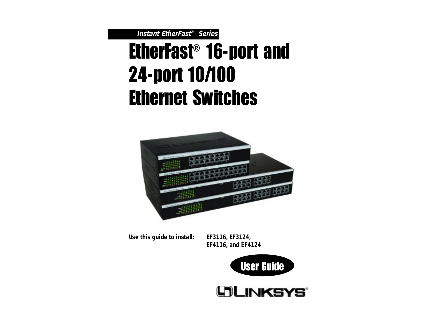 pdf for Linksys Switch EF3116 manual
