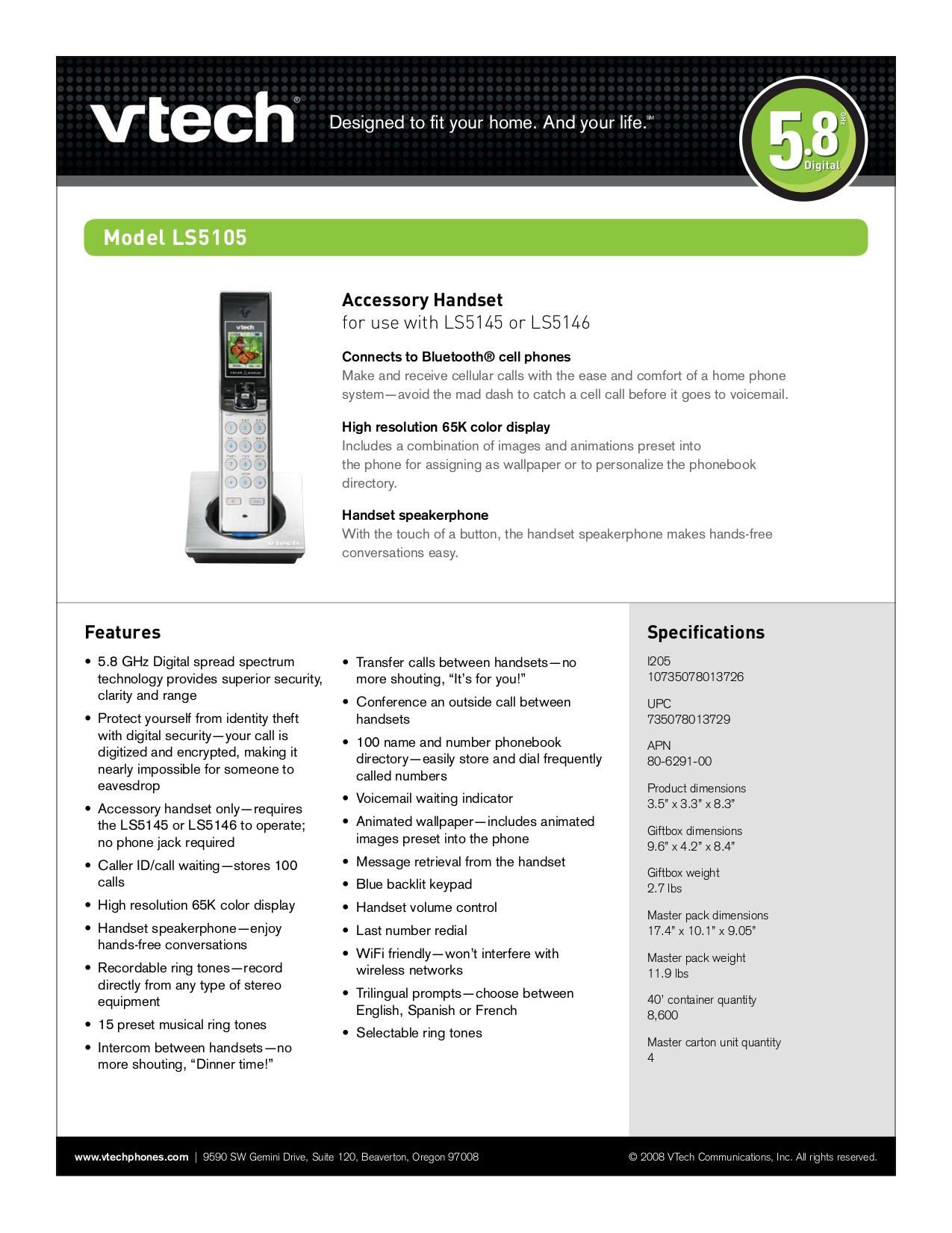 download free pdf for vtech ls5105 telephone manual rh umlib com