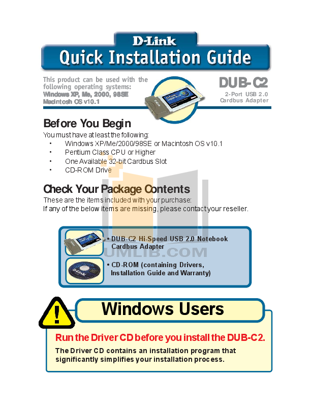 pdf for D-link Other DUB-C2 manual