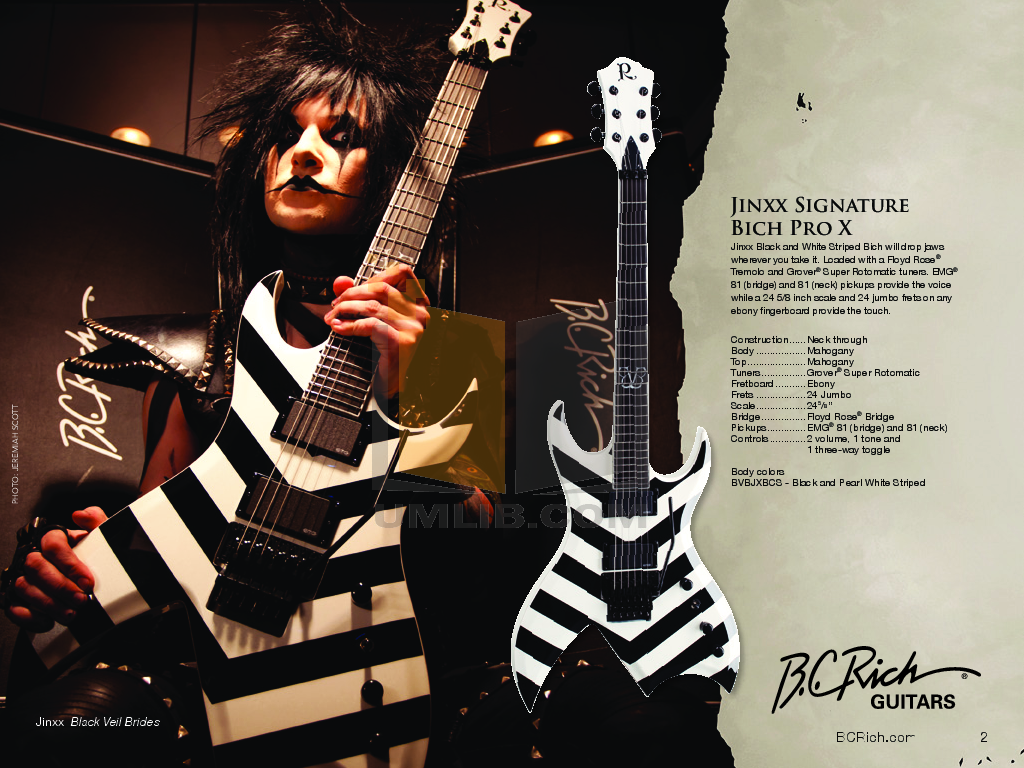 BCRich Guitar JMH5BV pdf page preview