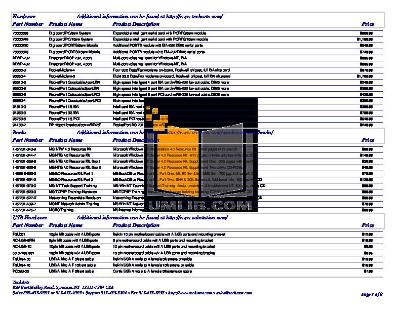Belkin Keyboard F8E206-USB pdf page preview