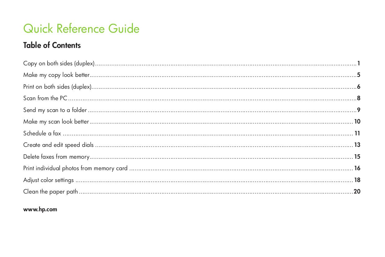 PDF manual for HP Multifunction Printer Laserjet,Color