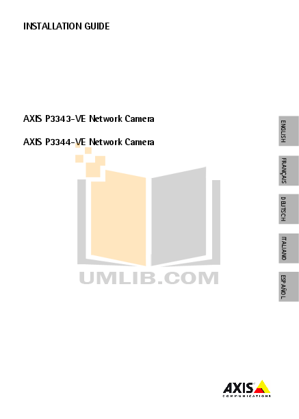 pdf for Axis Security Camera P3344 manual