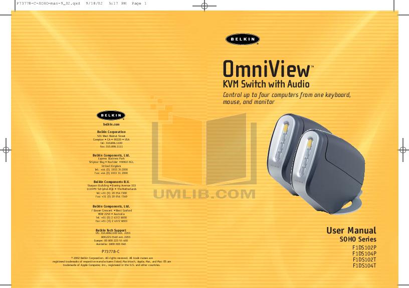 pdf for Belkin Switch F1D080 manual