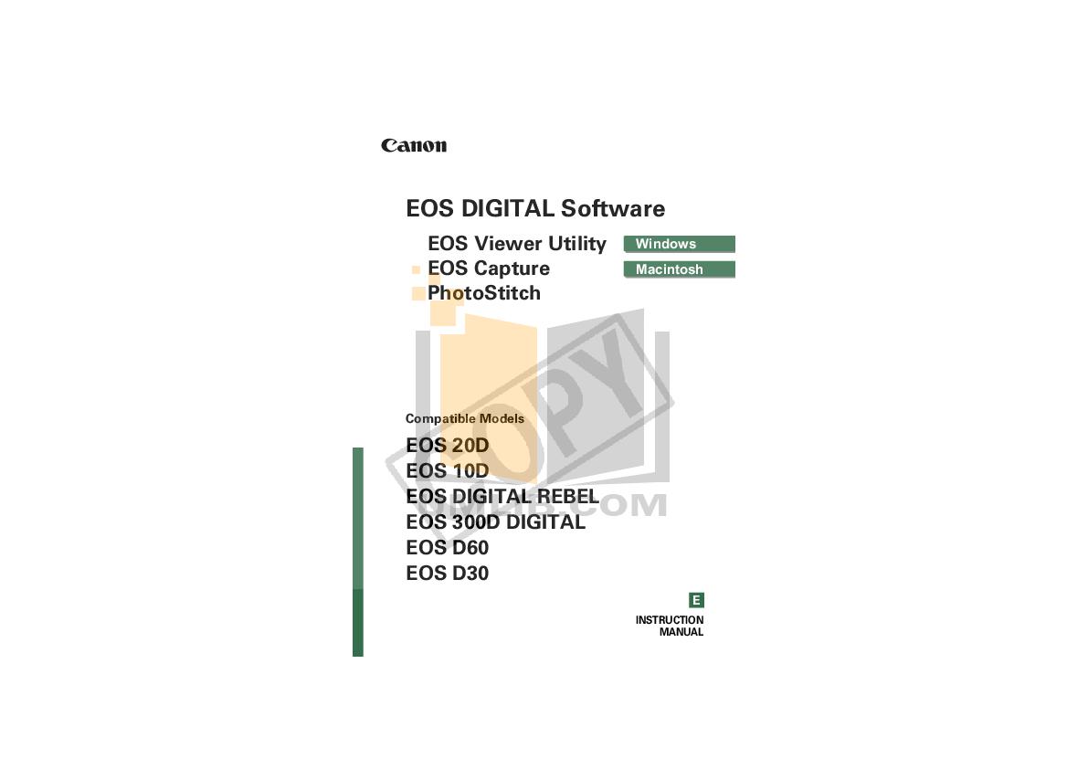 pdf for Canon Digital Camera EOS 10D manual