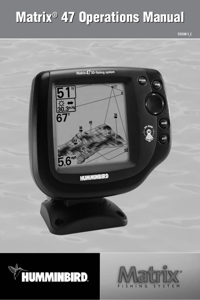 pdf for Humminbird GPS Matrix 47 manual
