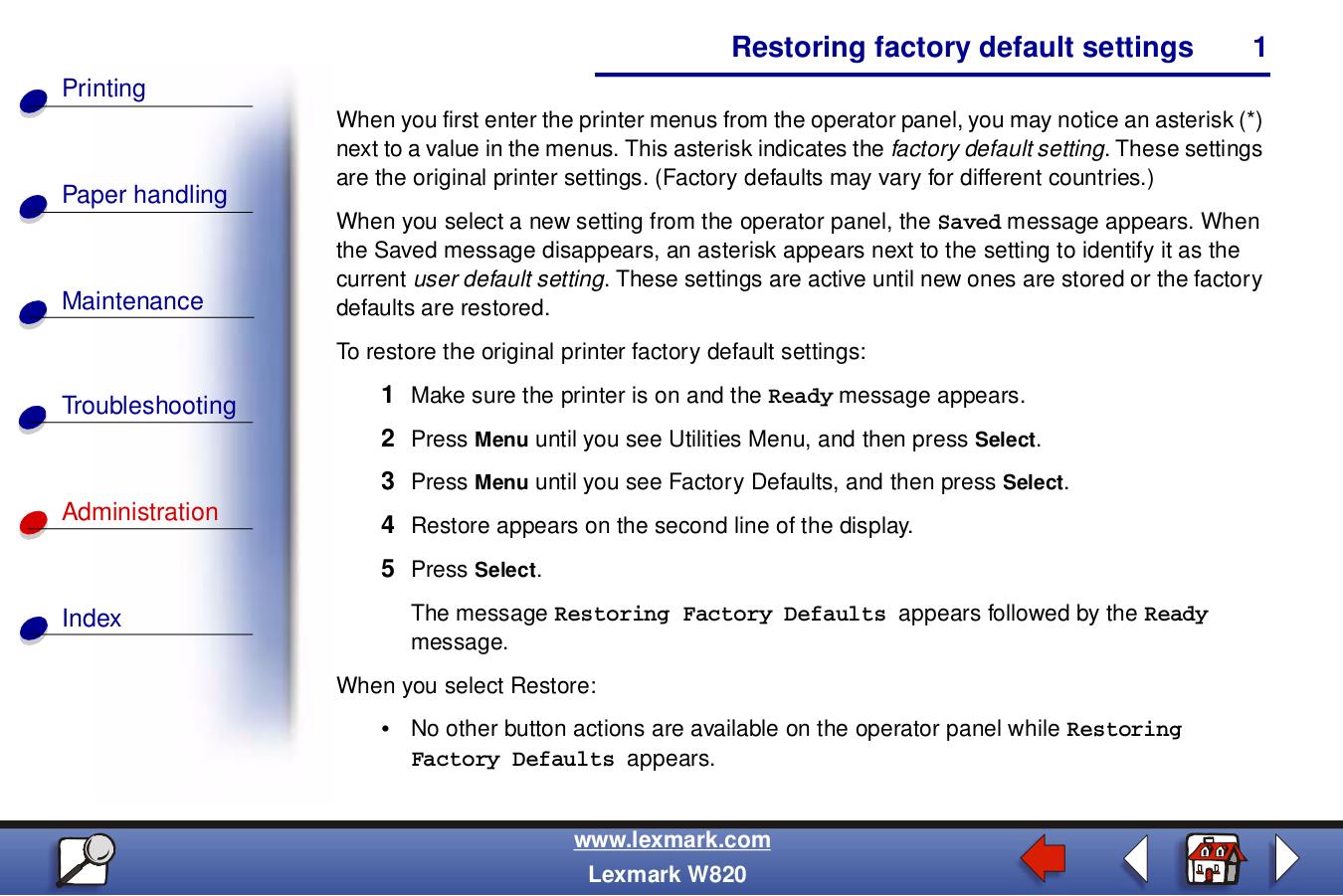 pdf for Lexmark Printer Z715 manual