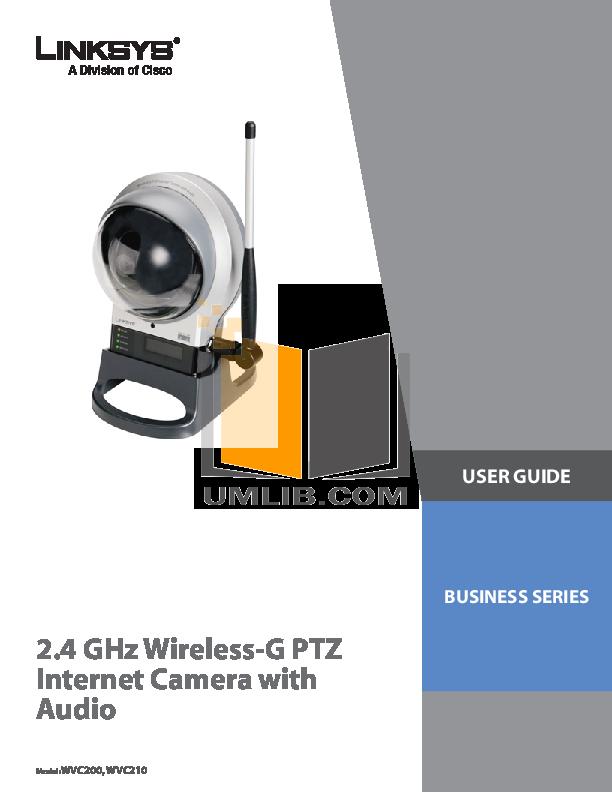 pdf for Cisco Security Camera WVC210 manual