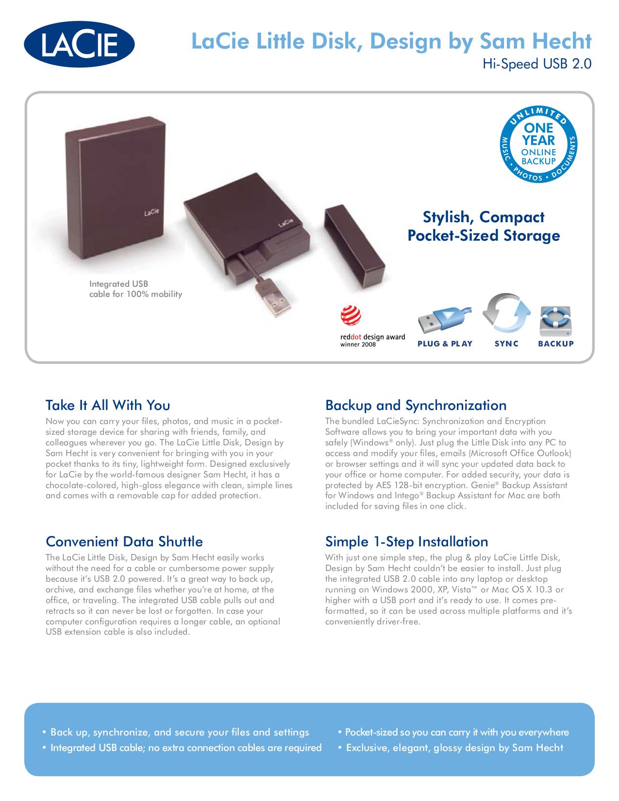 pdf for LaCie Storage 301273 manual