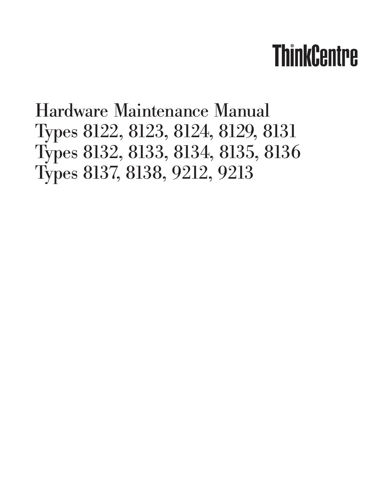 pdf for Lenovo Desktop ThinkCentre A51 8129 manual