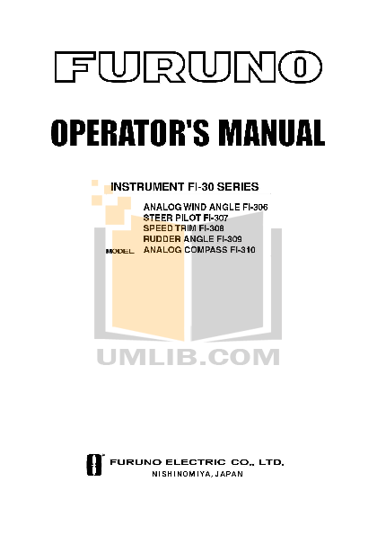 pdf for Furuno GPS FI-3001 manual