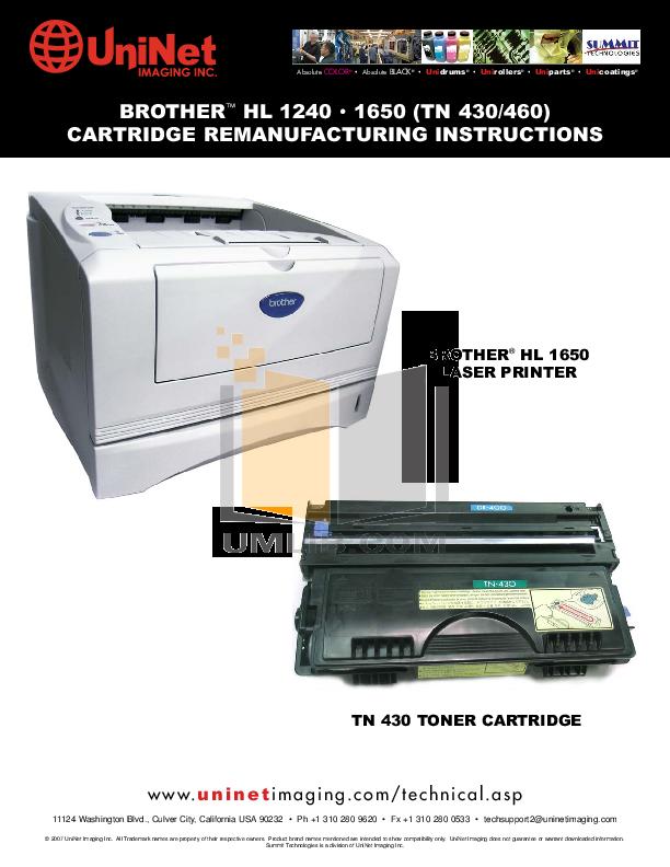 pdf for Brother Printer HL-1040 manual