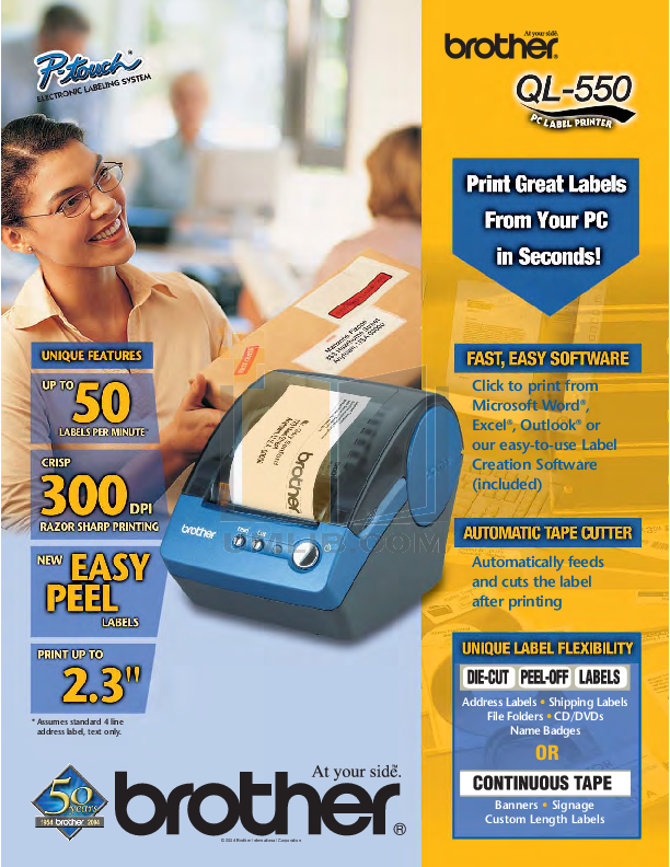 pdf for Brother Printer QL-550 manual