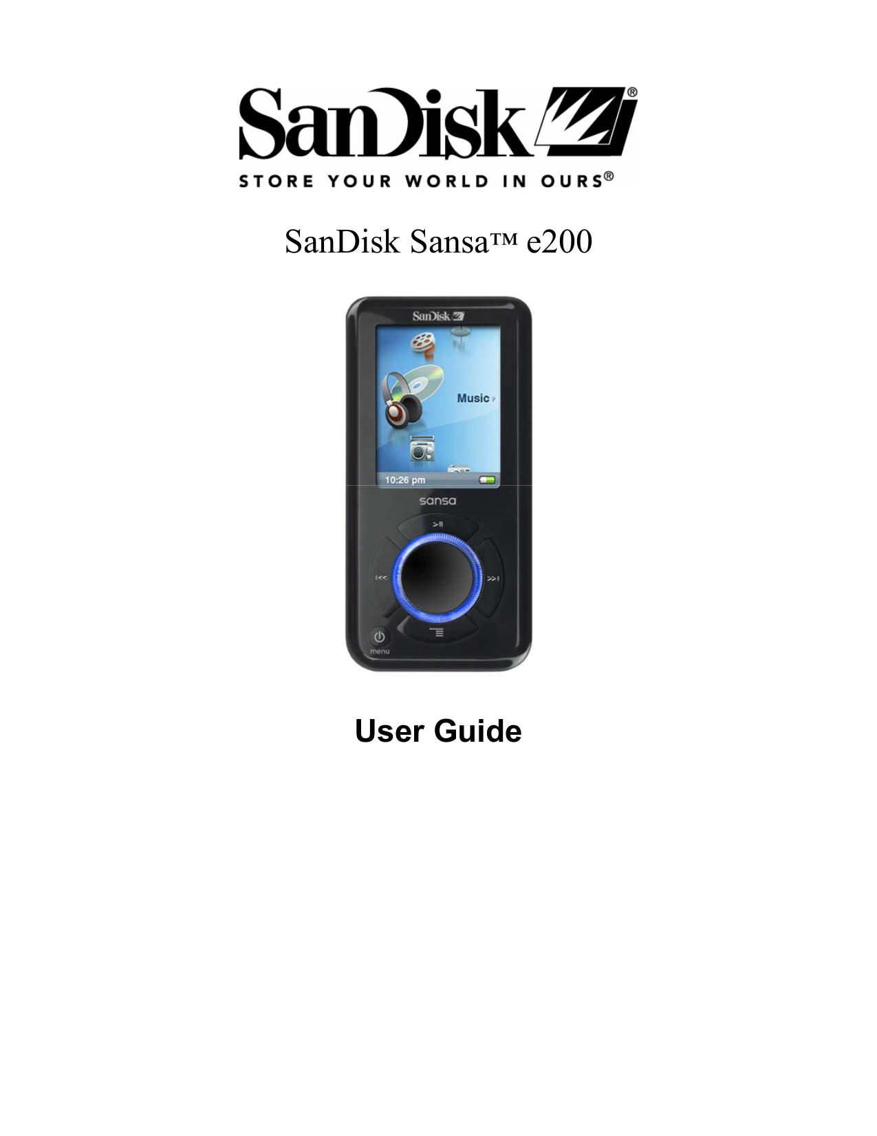 download free pdf for sandisk sansa sansa connect 4gb mp3 player manual rh umlib com Sansa Media Converter Sansa Clip