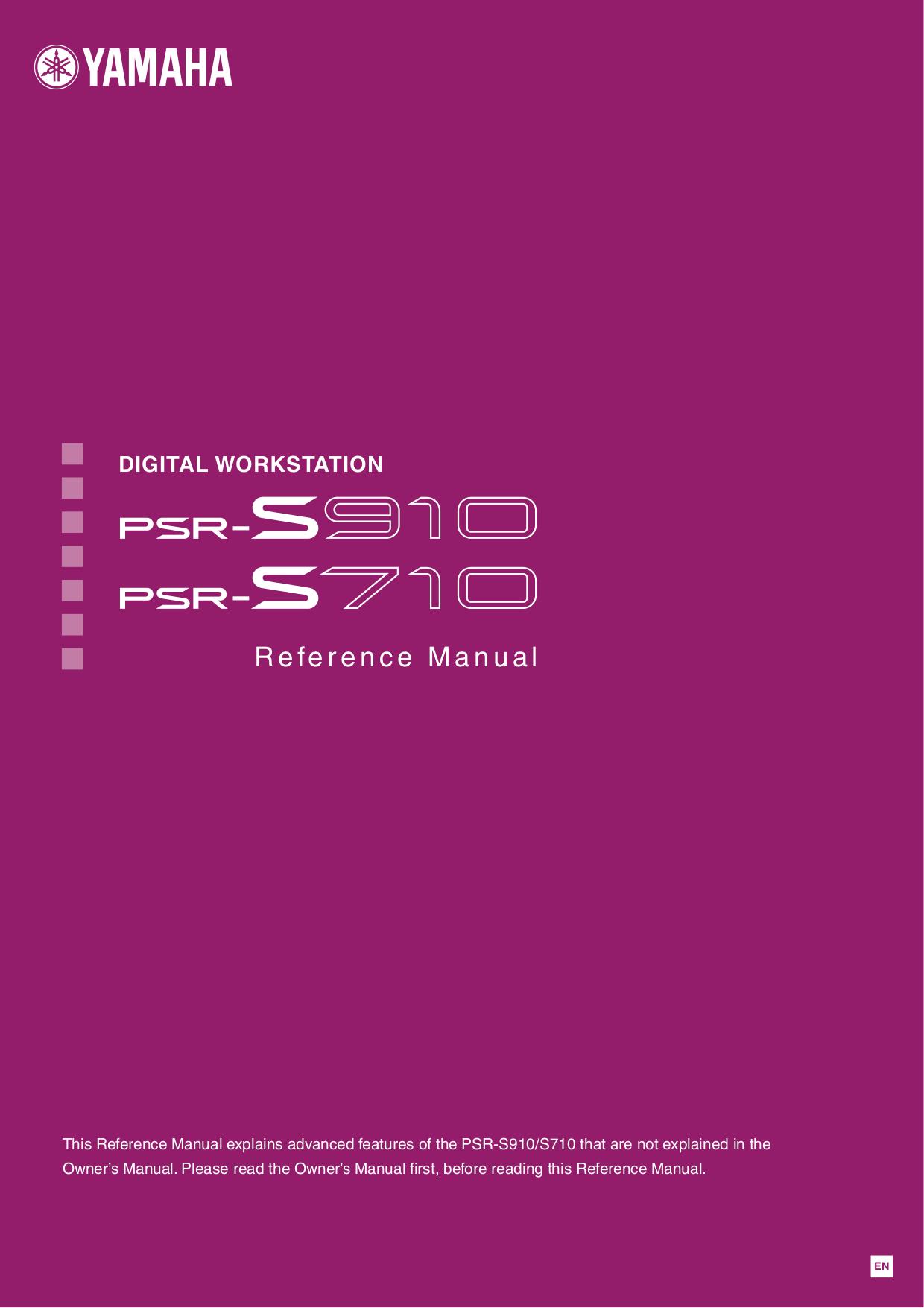 pdf for Yamaha Music Keyboard PSR-S710 manual