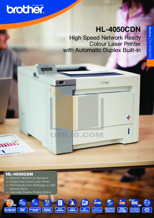 pdf for Brother Printer HL-4050CDN manual