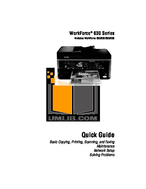 pdf for Epson Printer WorkForce 30 manual