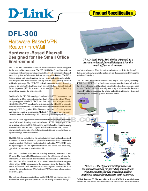 pdf for D-link Other DFL-300 manual