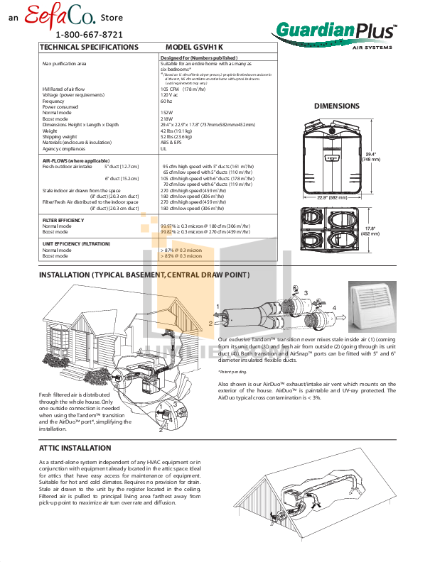 Broan-NuTone Other GSVH1K Air Purifiers pdf page preview