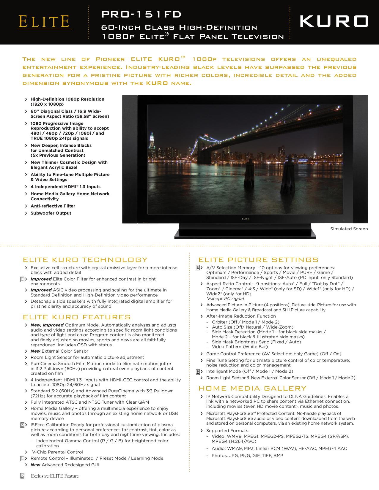 download free pdf for pioneer elite kuro elite pro 151fd tv manual rh umlib com Pioneer Kuro Plasma TV Pioneer Elite SC-05