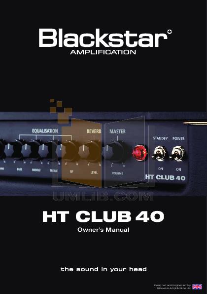pdf for Blackstar Amp HT-1R manual