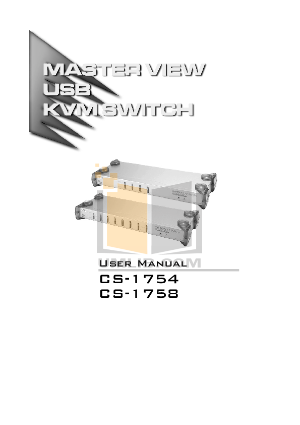 ATEN Other MasterView CS-1758 KVM Switch pdf page preview