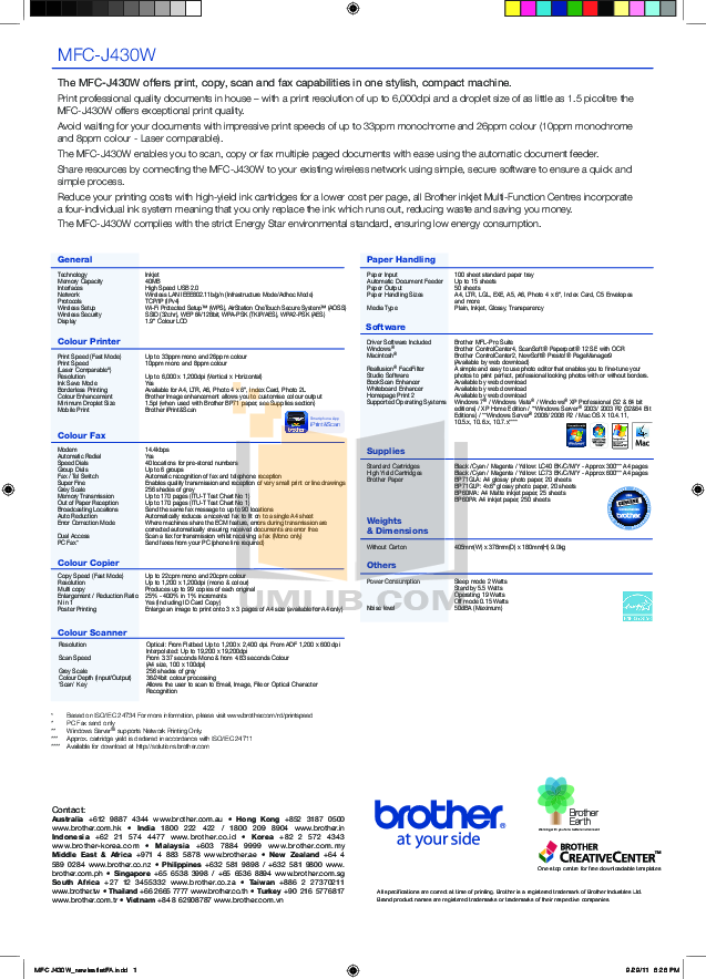 Download free pdf for Brother MFC-9800 Multifunction Printer