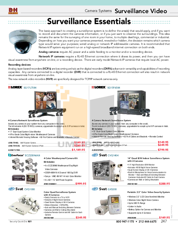 pdf for Elmo Security Camera TD4114IP II manual