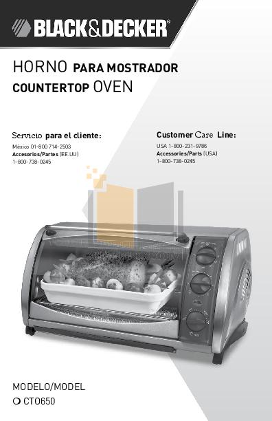 pdf for BlackAndDecker Oven CTO650 manual