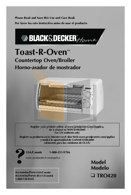 pdf for BlackAndDecker Oven CTO650 manual