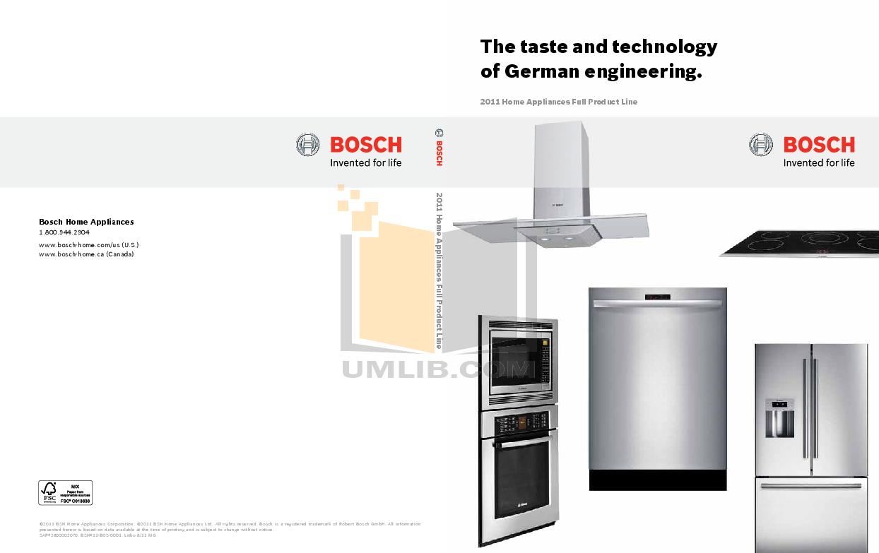 pdf for Bosch Microwave HMB8050 manual