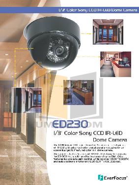 pdf for EverFocus Security Camera ED230 manual