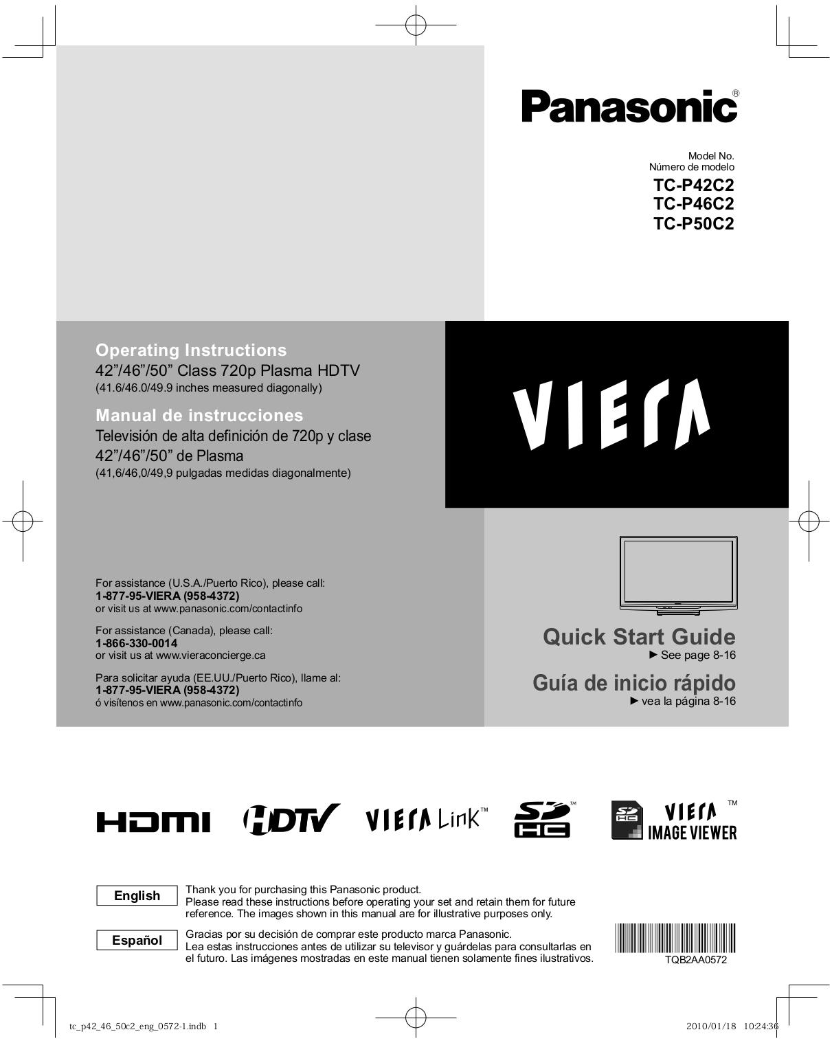 download free pdf for panasonic viera tc p50c2 tv manual rh umlib com panasonic viera 42 manual pdf tv panasonic viera 42 manual
