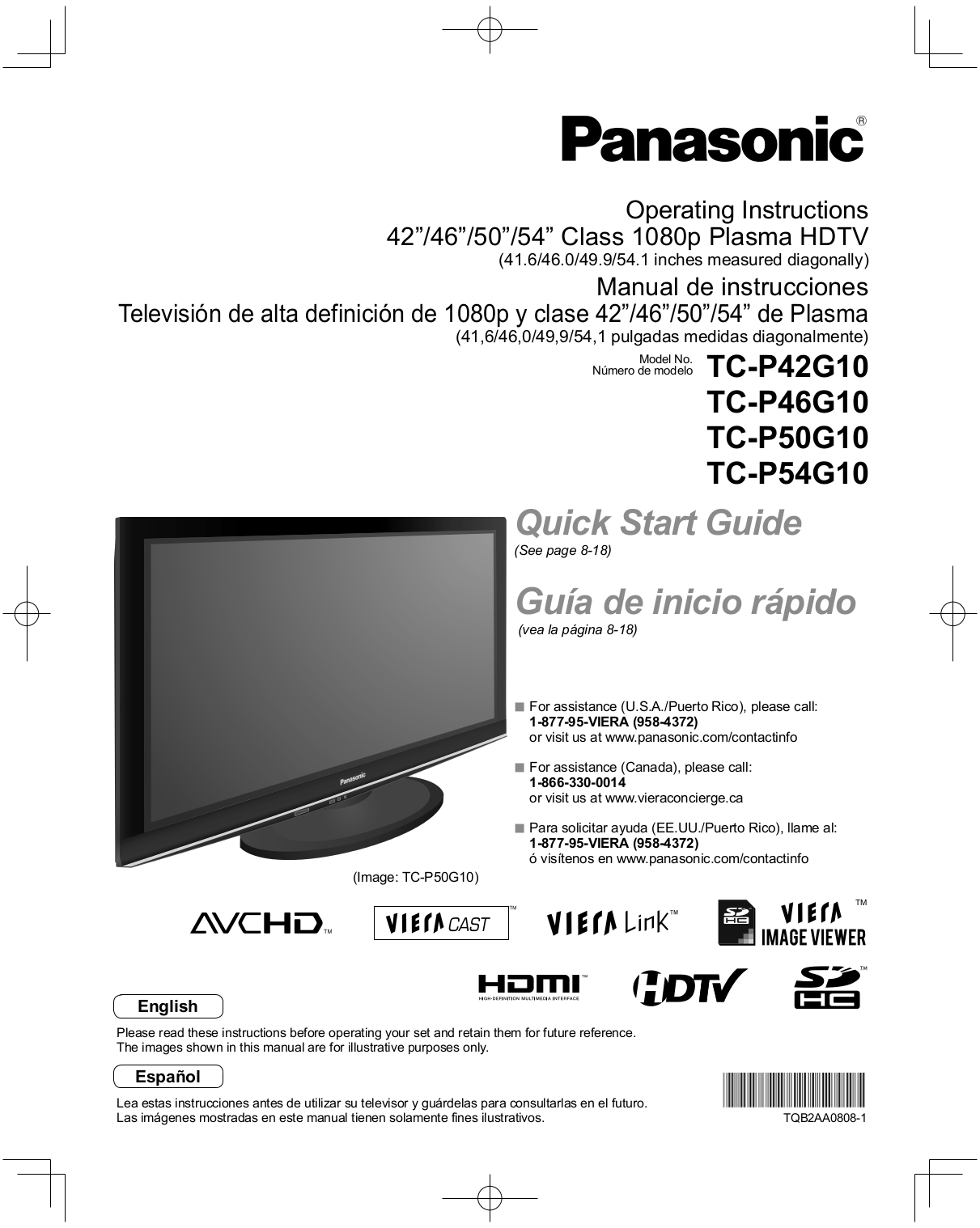 2010 panasonic viera tv manual