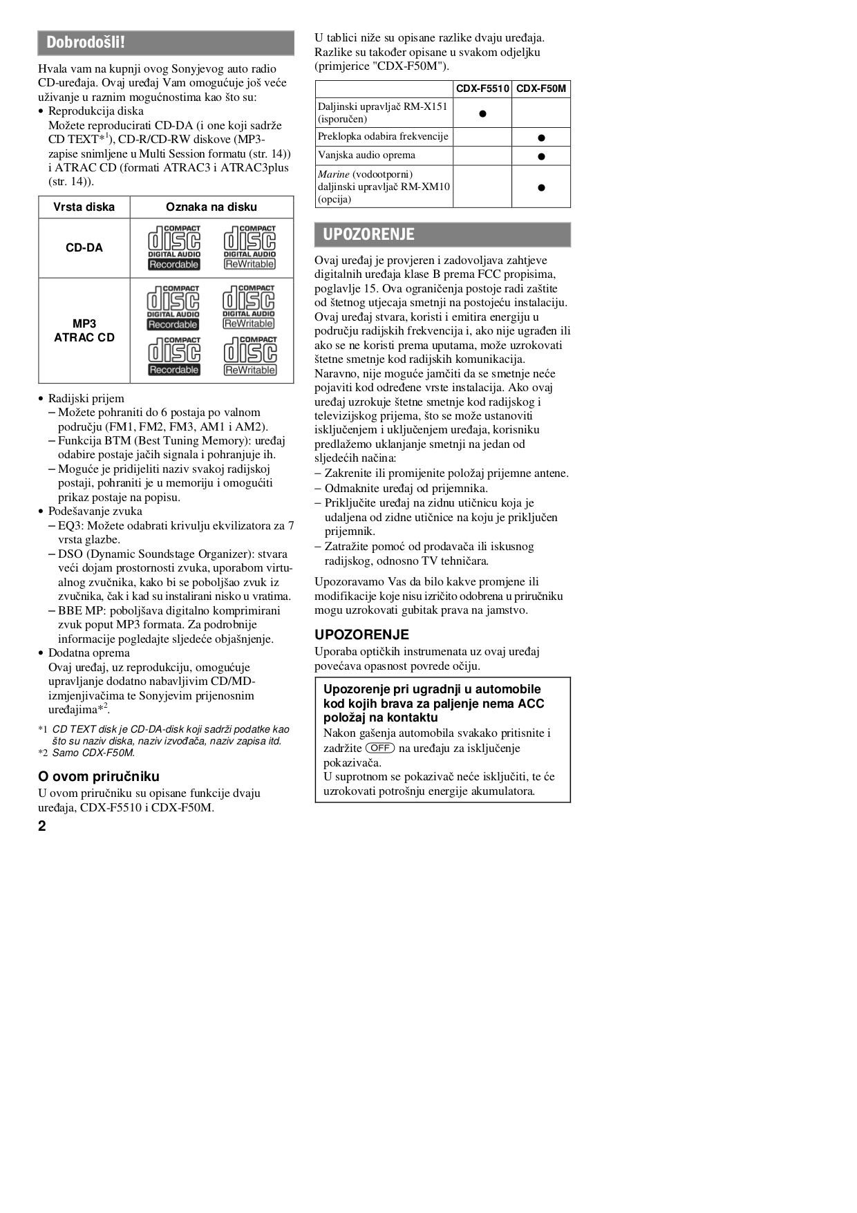 sony remote control rm-xm10 pdf page preview