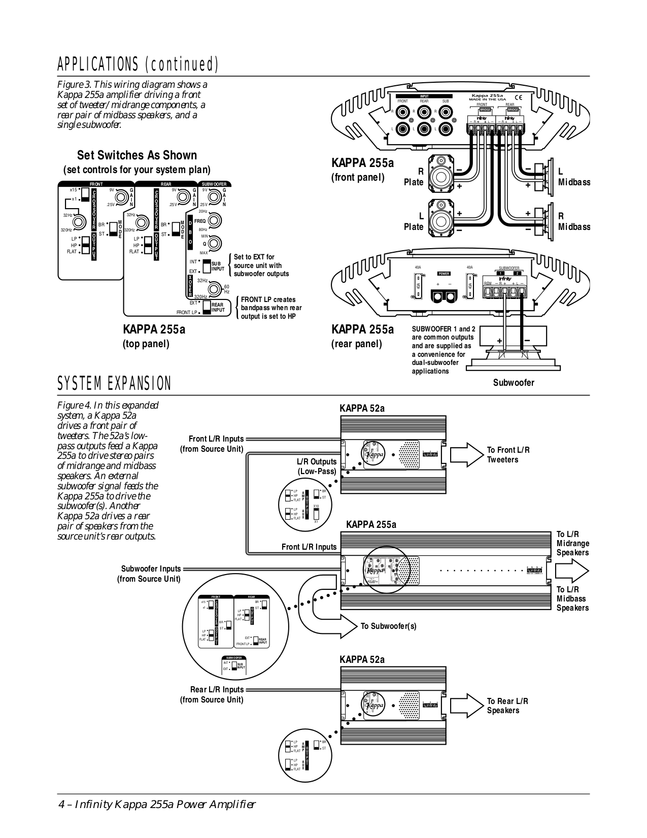 PDF manual for Infinity Car Amplifier Kappa Series KAPPA FIVE – Infinity Gold Amp Wiring Diagram