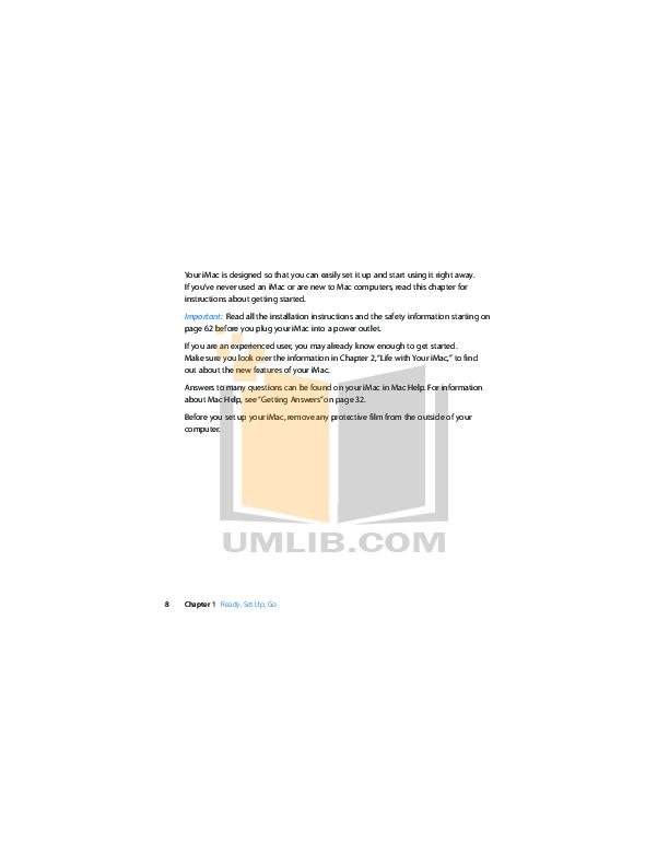 Apple Desktop iMac iMac 21.5 pdf page preview