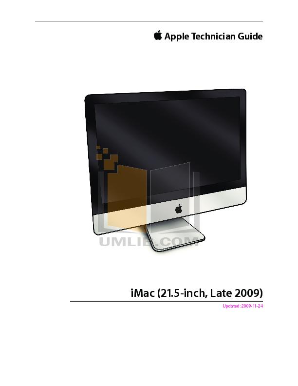 pdf for Apple Desktop iMac iMac 21.5 manual