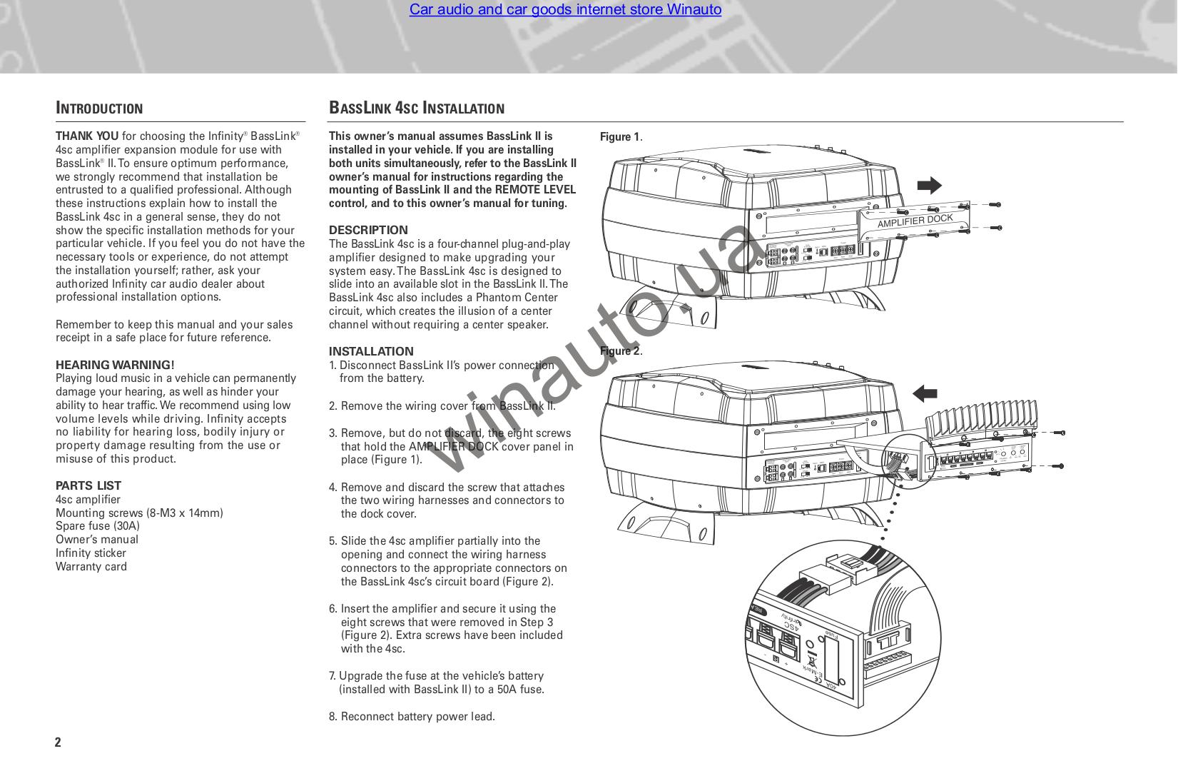 pdf manual for infinity subwoofer basslink ii rh umlib com Infinity Basslink T Subwoofer Infinity Basslink T Amp for Circuit Boards