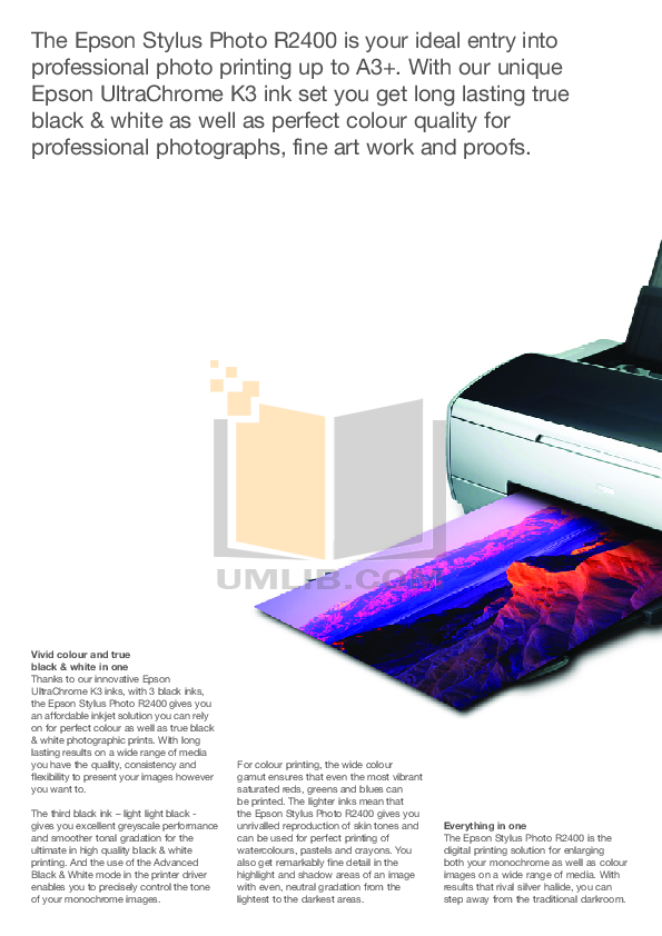 Epson Printer Stylus Color 640 pdf page preview