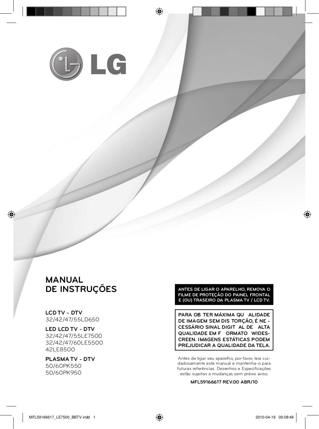 pdf for LG TV LG50 manual