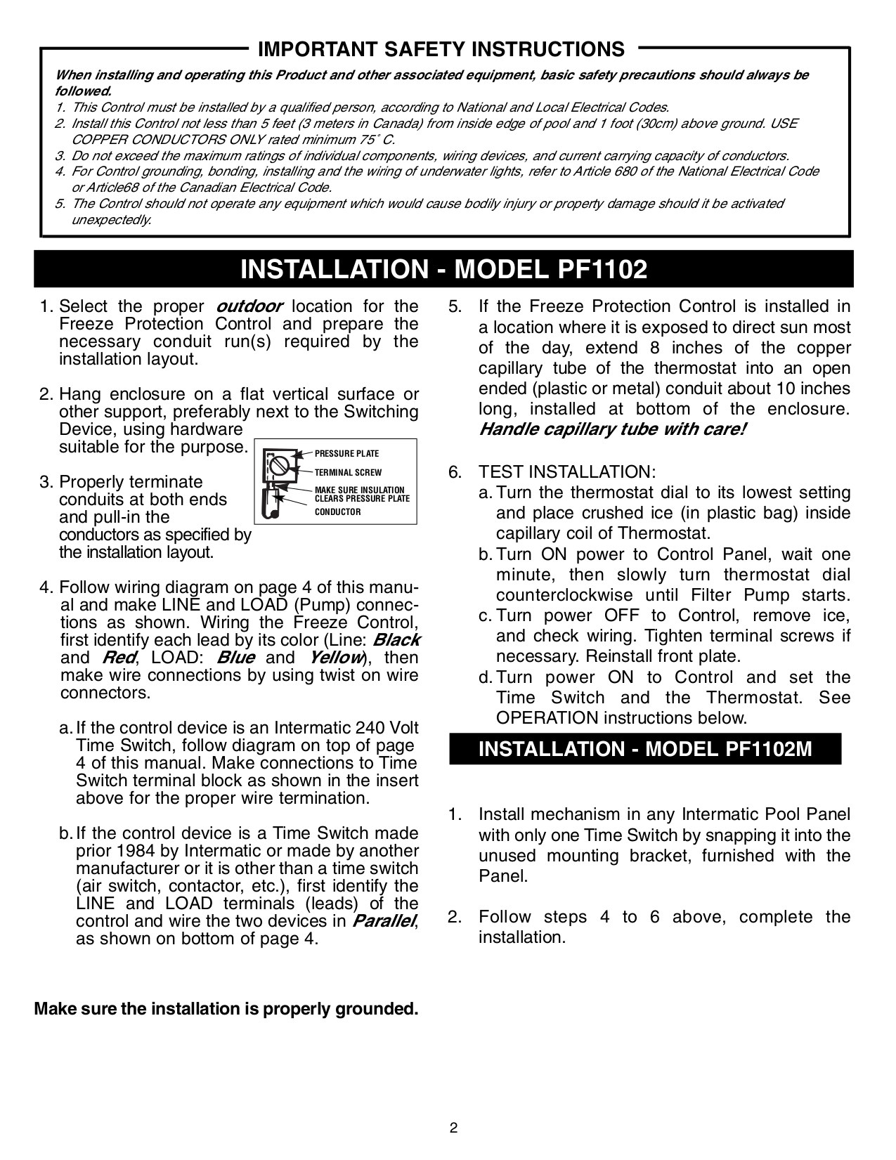Pdf Manual For Intermatic Other T30000r Protection Device Freeze Protector Pool Wiring Diagram Page Preview